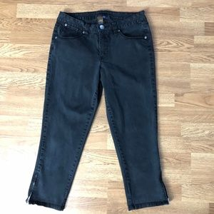 Jag Zip Ankle Stretch Jeans Black Size 14
